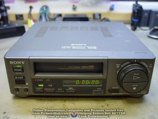sony hi8 ev c100 video cassette recorder hi fi stereo with manual ebay rh ebay com Videotape Recorder Videocassette Recorder Icon