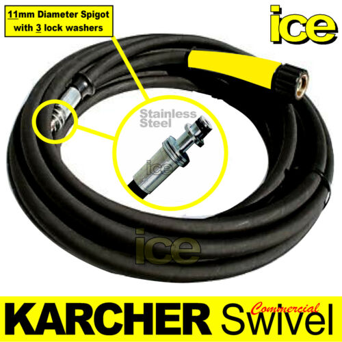 10m KARCHER COMMERCIAL PROFESSIONAL PRESSURE WASHER STEAM CLEANER SWIVEL HOSE 1W