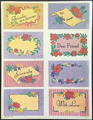 Dated 1981 Christmas Hallmark Vintage Stickers