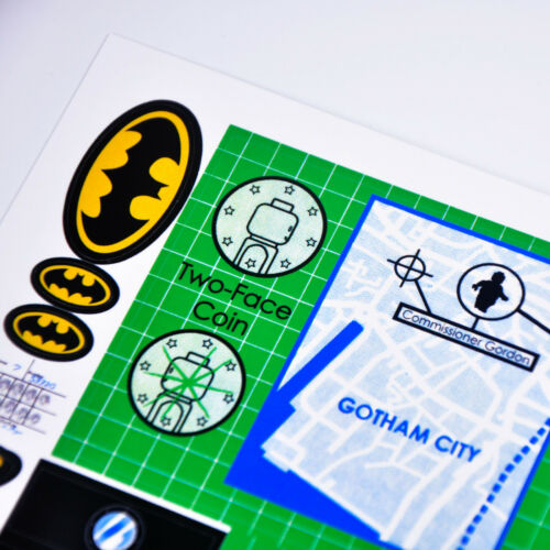 Premium quality CUSTOM sticker for LEGO 7783 Batman Batcave Joker Two-Face
