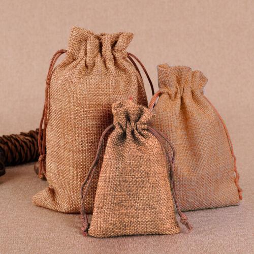 Kordelbeutel Taschen Sackleinen Vintage Licht Kaffee Hochzeit nützlich