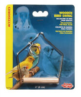 Hagen Living World Wooden Perch Swing Bird Cage 3 Size Choice