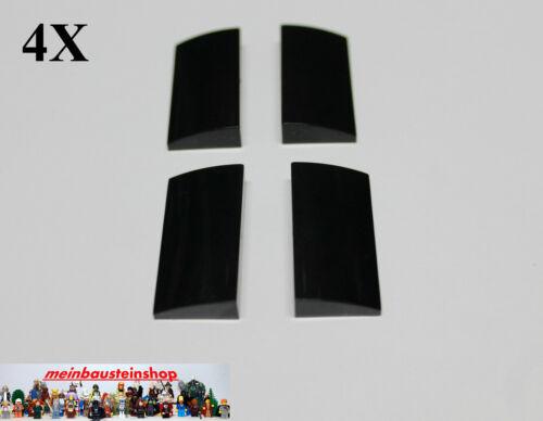 4X Lego® 88930 Dachsteine mit Bogen Slope Curved 2X4X2//3 Schwarz Black NEU