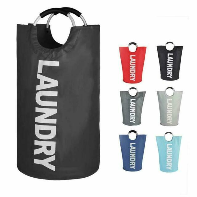 82L Large Laundry Basket Collapsible Fabric Laundry Hamper Foldable Clothes Bag
