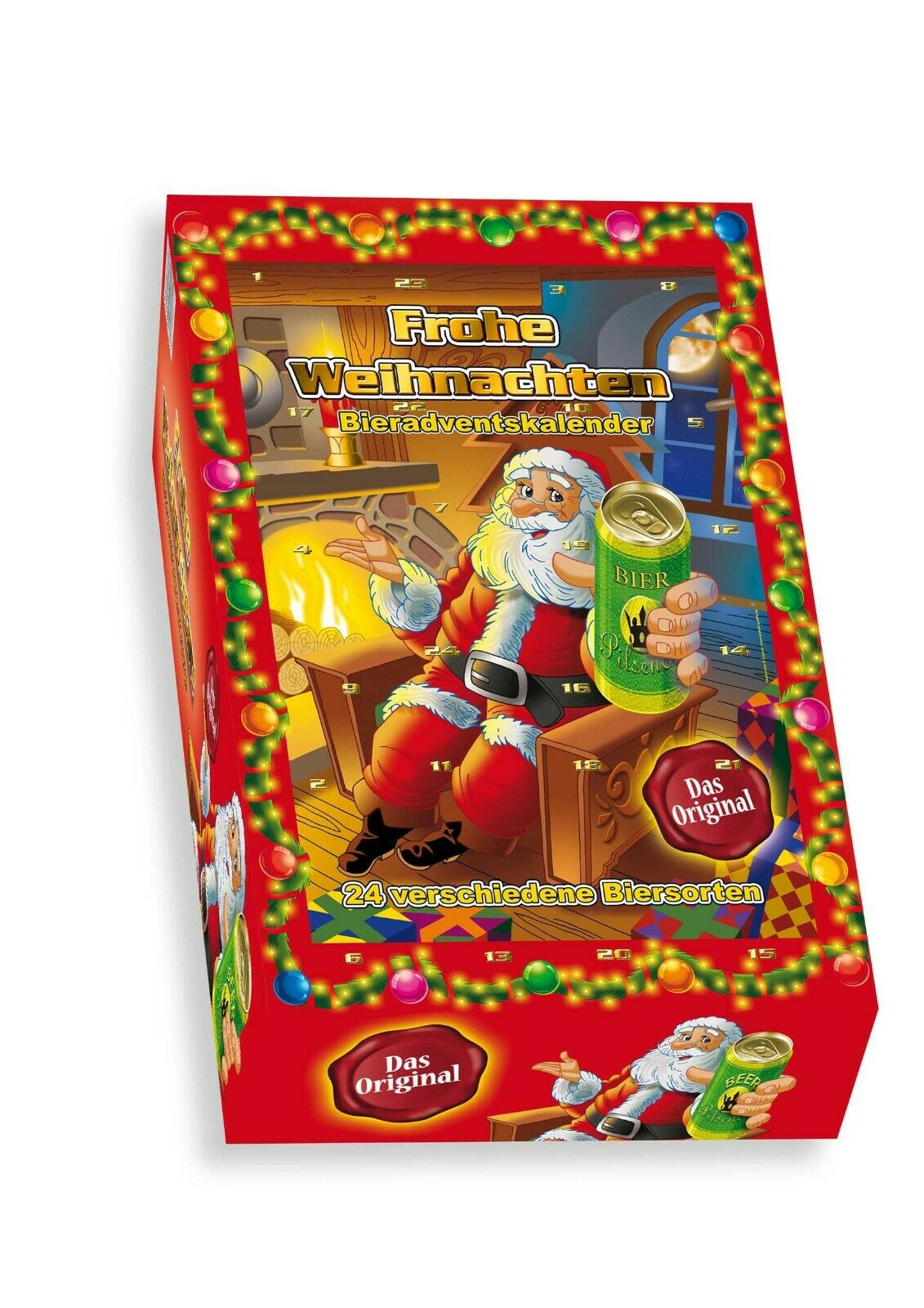 Bierdosen-Adventskalender  Ruprecht  in rot