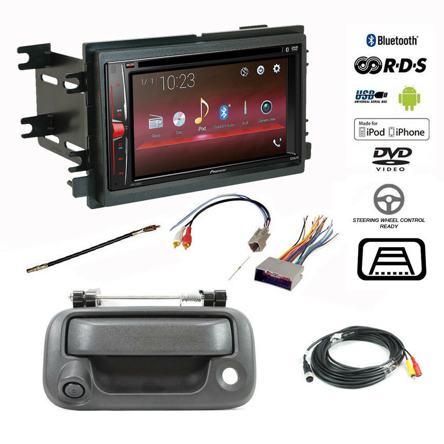 pioneer double din bluetooth usb stereo backup camera f