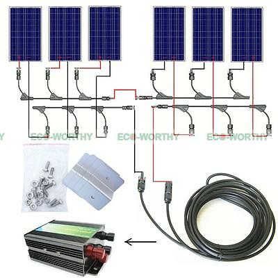 COMPLETE KIT: 100W 200W 300W 400W 500W 600W Solar Panel System for Home Battery
