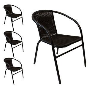 Bistrostuhl Gartenstuhl Stapelstuhl Polyrattan Sessel Gartenmöbel