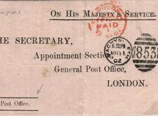GB WALES Cover Machynlleth GPO 1902 Medical Letter SHIPWRECK+ RAILWAY CRASH G195