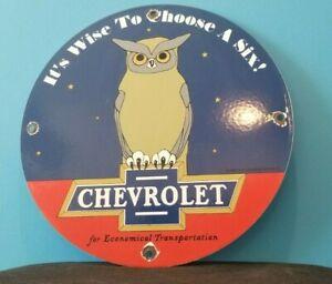 VINTAGE-CHEVROLET-PORCELAIN-GAS-AUTO-ECONOMICAL-CAR-TRUCKS-SALES-SERVICE-SIGN