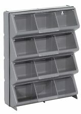 12 Bin Storage Organizer Plastic Parts Box Compartment With Clear View Cover