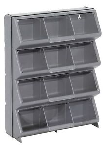 Image Is Loading 12 Bin Storage Organizer Plastic Parts Box Compartment