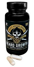 Grave Before Shave Beard Growth Supplement (60 Capsules per Bottle)
