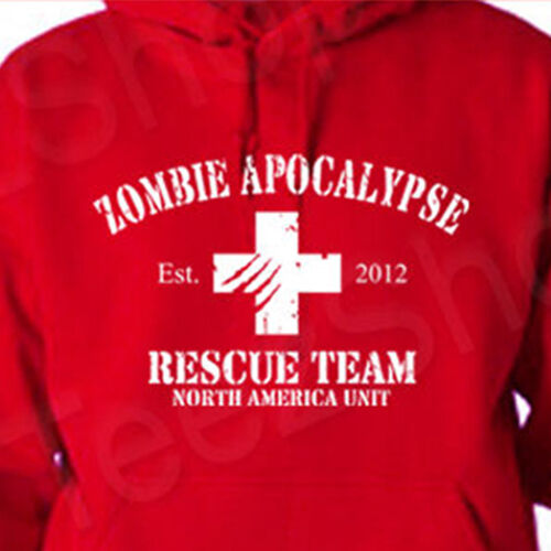 ZOMBIE APOCALYPSE Rescue Team halloween horror sweatshirt walking dead HOODIE