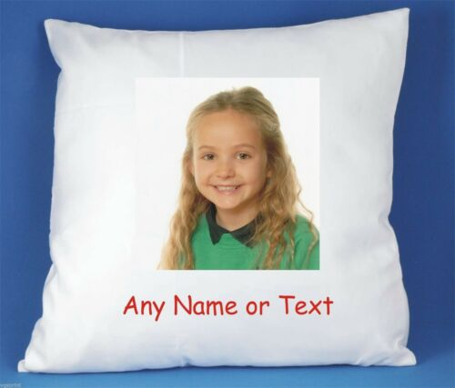 YOUR PHOTO AND//OR TEXT PERSONALISED LUXURY SOFT SATIN CUSHION COVER FAST POSTAGE