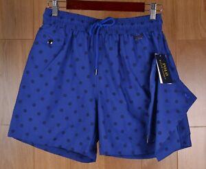 0ce67e416e NWT Polo Ralph Lauren Explorer Dotted Swim Shorts Trunks Blue Polka ...