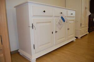Details zu XXL Landhaus Dielen oder Schlafzimmer Kommode Holz Fichte massiv  Antik weiß