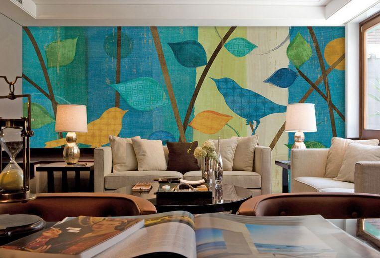 3D foglie Farbeate 0 Parete Murale Carta da parati immagine sfondo muro stampa