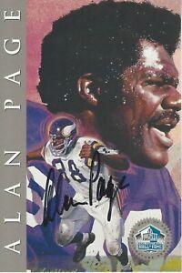 Alan Page Minnesota Vikings 1988 Hall of Fame Platinum Signature Series