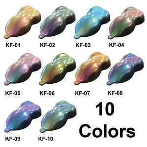 Gallon custom chameleon flip flop color changing pearl for Pearls paint supply