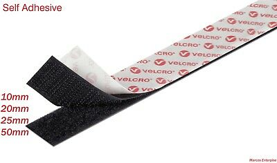 VELCRO® brand PS14 16mm Self Adhesive Sticky Back Tape Strip Hook//Loop Black 5m