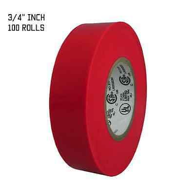 """TapesSupply 10 Rolls Pack Yellow Electrical Tape 3//4/"""" x 66 ft"""