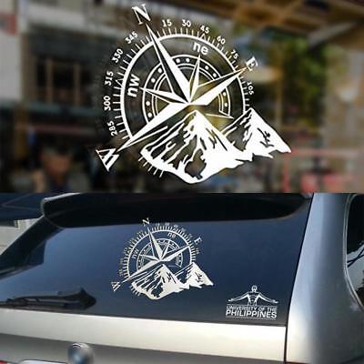 25cm Wrangler Jeep Compass Rose Navigare Vinile Adesivo 4x4 Offroad Decalcomania