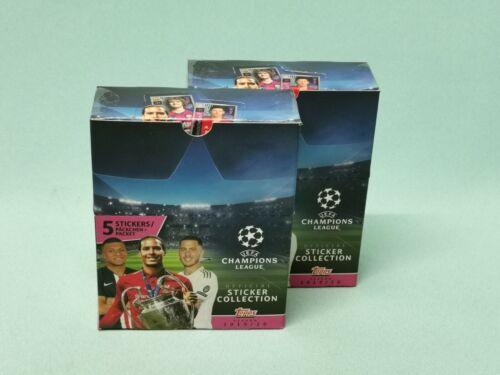 Topps Ligue des Champions STICKER 2019//2020 2 X Display//60 pochettes 19//20