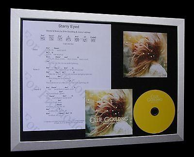 ELLIE GOULDING Starry Eyed LTD CD MUSIC FRAMED DISPLAY+EXPRESS GLOBAL SHIPPING