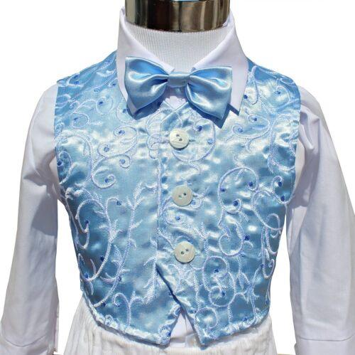 ABITO BATTESIMO maschio vestito cerimonia VELLUTO bianco azzurro tg 62-98 c 1254