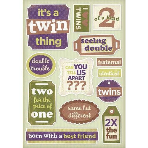 Twins Cartulina Adhesivo 10922 Karen Foster viendo doble Twin cosa