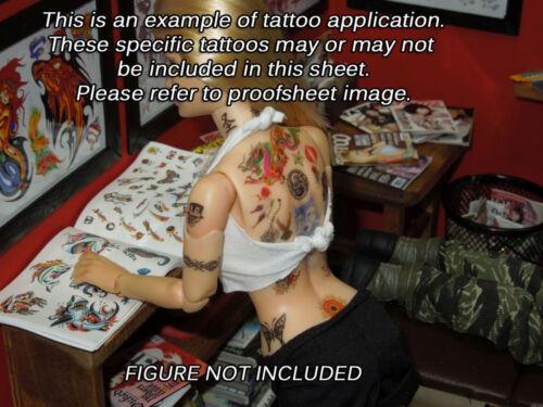 Star Wars et Movie Pack-Waterslide Decals 1//6 Scale Custom Tattoos