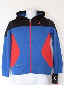 87134df6fe2d Nike Jordan Boy s Blue Red Jumpman THERMA-FIT Hoodie Sweatshirt ...