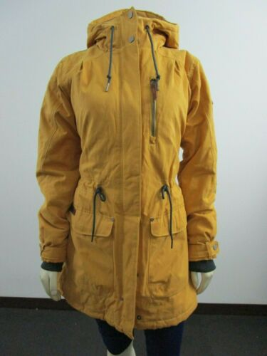 NWT Womens M Columbia Canyon Cross Flannel Insulated Winter Jacket Gold