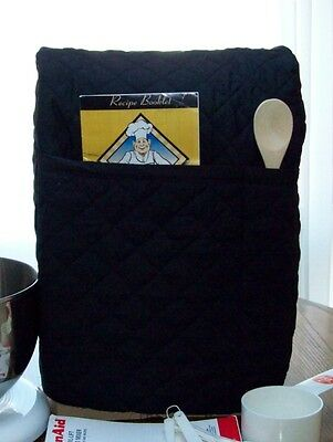 BLACK Quilted Kitchen Aid 5 plus 6 Qt. Lift Bowl Mixer Cover 2 PoCKeTS