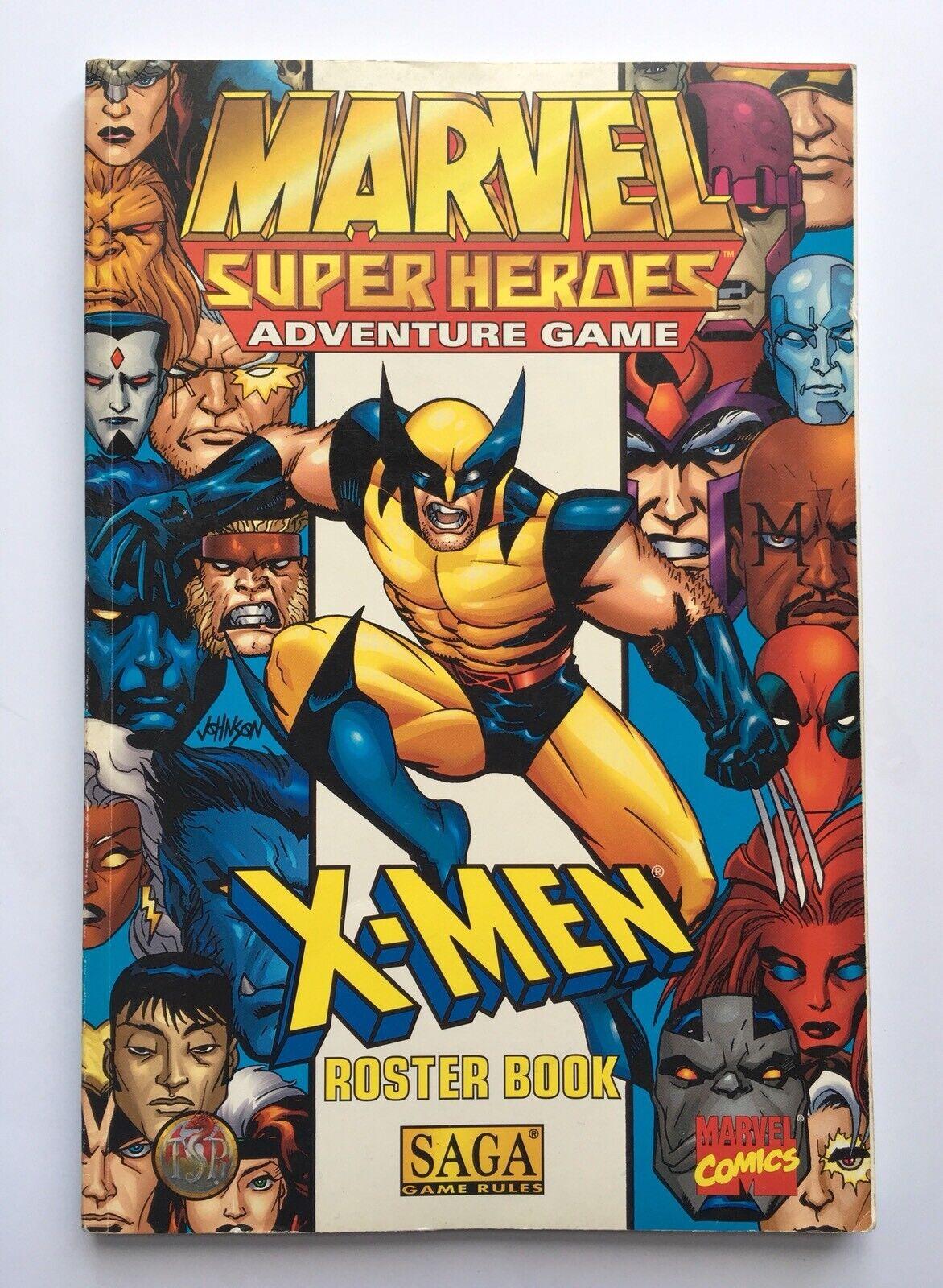 X-Men  Roster Book - Marvel Super Heroes Adventure Game - RPG SAGA TSR 06927