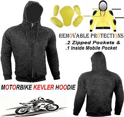 S LADIES FLEECE HOODIE REMOVABLE ARMOUR MOTORBIKE//MOTORCYCLE JACKET