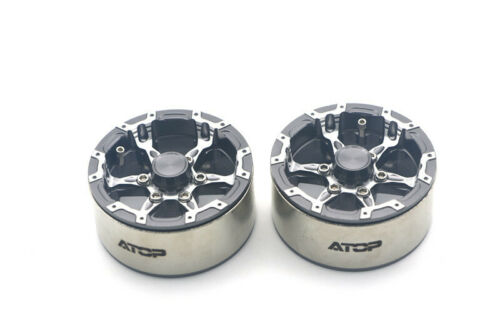 ATOP RC Metal wheel Hub 1.9 Inch Metal Hub SCX 10 2pcs