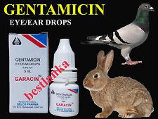 Gentamicin Eye Drops Birds Pigeon Rabbit Dog Cattle Horse Sheep Goat Cat 5ml