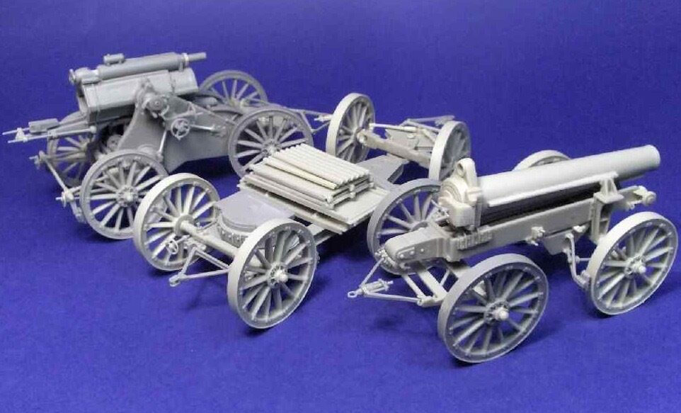 1 35th Resicast British WWI 9.2  Howitzer transport mode