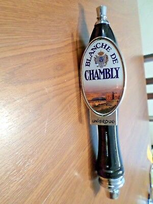 Blanche Chambly Unibroue beer tap handle