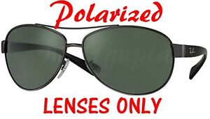9485bb026ea POLARIZED Black Dark Grey Ray Ban RB 3386 Replacement Lens 67mm New ...