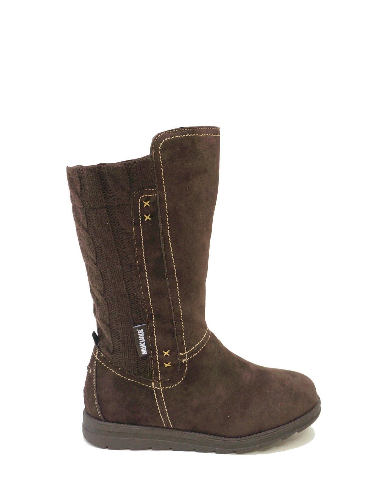 Muk Luks Brown Water Resistant Mid Calf Boots Stacy Women's US 6