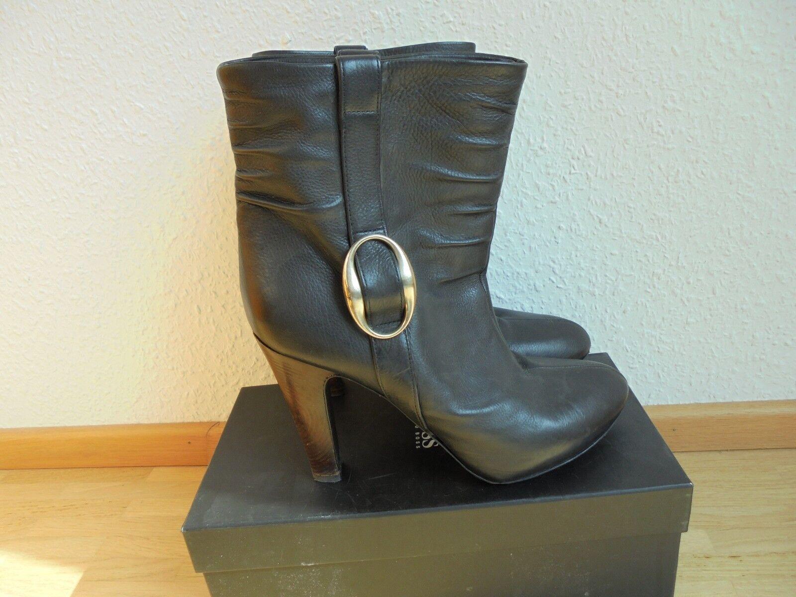 Hugo Boss Stiefel Leder Stiefeletten NP:  w NEU Pumps Stiefel Boss Schuhe Gr. 39 4691a8