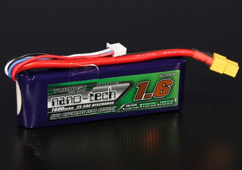 RC Turnigy nano-tech 1600mah 3S 25~50C Lipo Pack