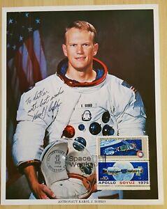 Nasa ASTP Karol Bo Bobko WSS original signed Photo, Space Shuttle, USA