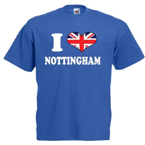 I love coeur Nottingham children/'s kids t shirt