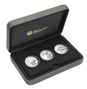 2019-High-Relief-Australian-Kookaburra-Kangaroo-Koala-Proof-Silver-3-Coin-Set