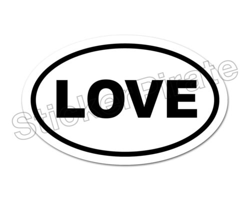 * Oval Car Magnet LOVE Magnetic Bumper Sticker