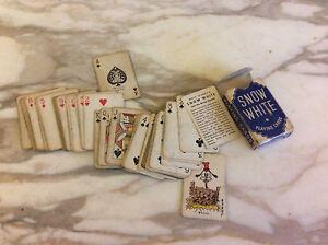 Vintage Miniature Snow White Playing Cards Walt Disney WDE w Original Box